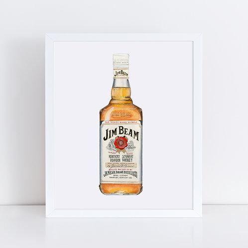 Jim Beam Bourbon Bottle