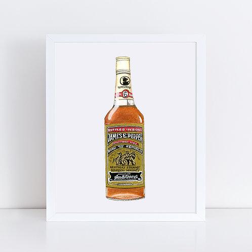 James E. Pepper Bourbon Bottle
