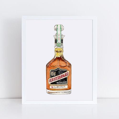 Old Fitzgerald Bourbon Bottle