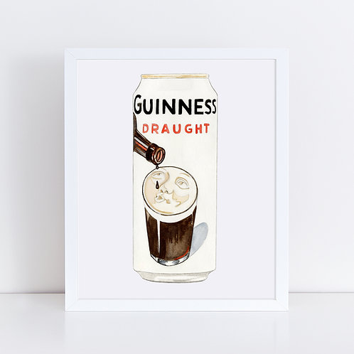 Guinness Draught Beer Drinking Beer Can