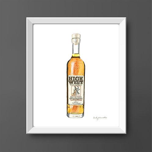High West Whiskey Bottle *ORIGINAL PAINTING*