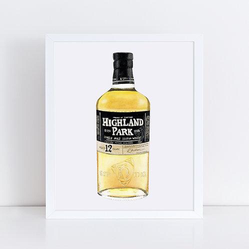 Highland Park 12 Scotch Whisky Bottle *ORIGINAL PAINTING*