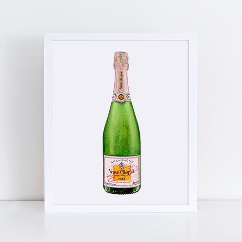 Veuve Clicquot Rosé Champagne Bottle