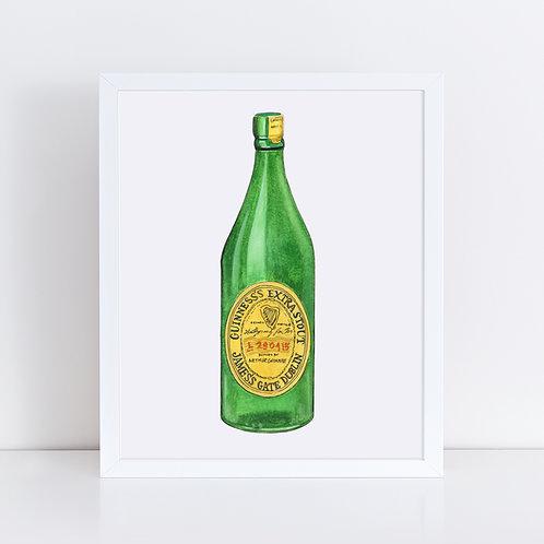 Guinness Green Bottle