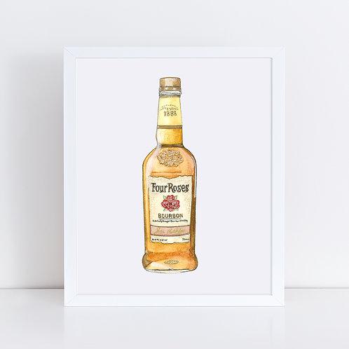 Four Roses Bourbon Bottle