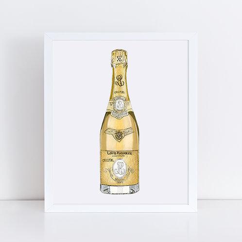 Cristal Champagne Bottle