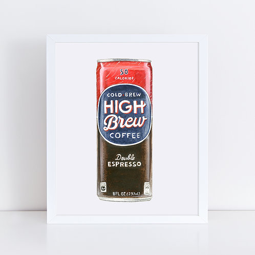 High Brew Coffee *ORIGINAL PAINTING*