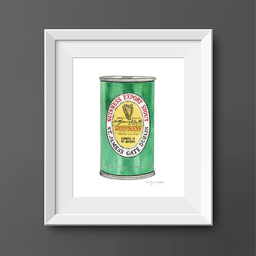 Guinness Export Stout Green Can *Original Painting*