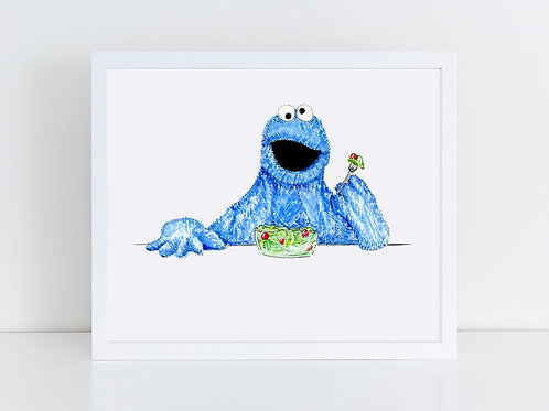 Cookie Monster Eats a Salad