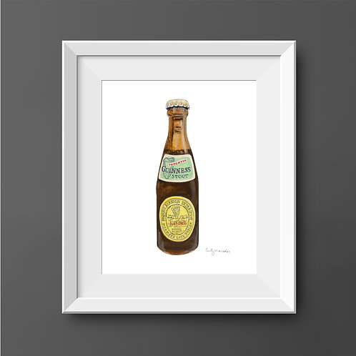 Imported Guinness Stout Bottle *Original Painting*