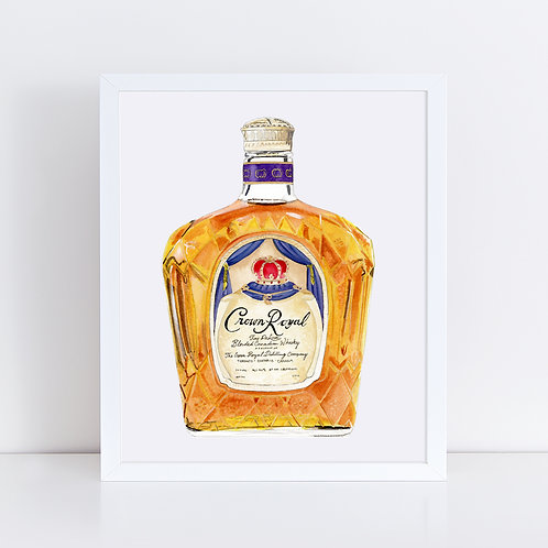 Crown Royal Whisky Bottle