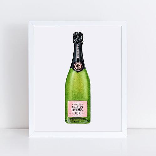 Charles Heidsieck Rosé Champagne Bottle