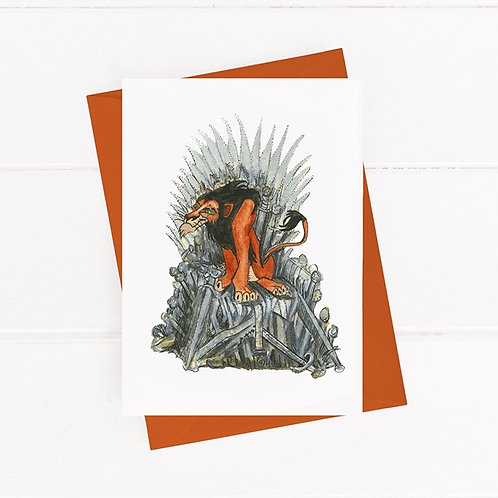 Scar on the Throne - Greeting Card