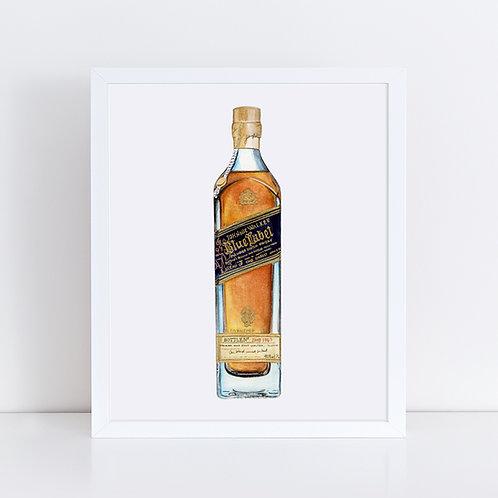 Johnnie Walker Blue Label Scotch Whisky Bottle