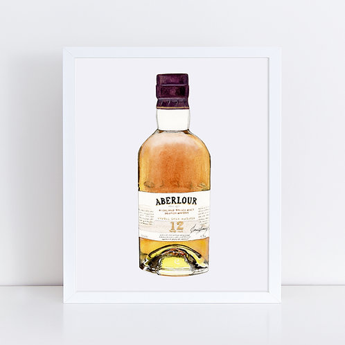 Aberlour 12 Scotch Whisky Bottle *ORIGINAL PAINTING*