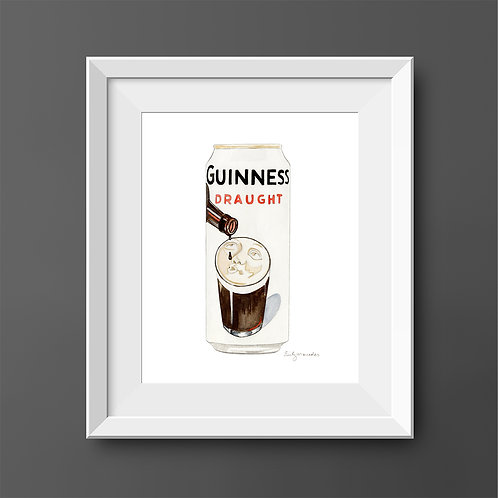 Guinness Draught Beer Drinking Beer Can *Original Painting*