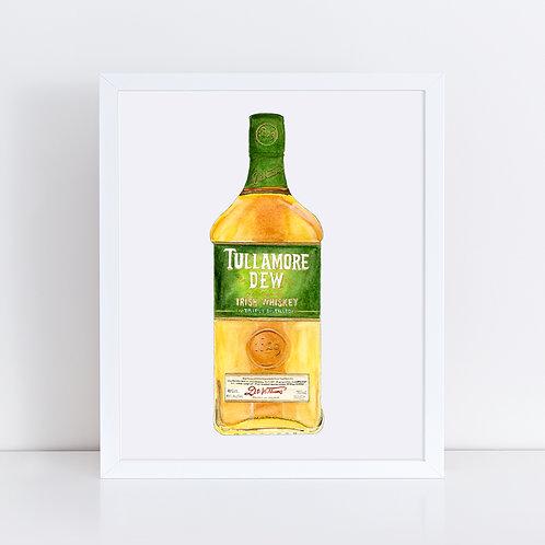 Tullamore D.E.W. Whiskey Bottle