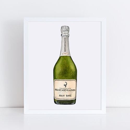 Billecart-Salmon Rosé Champagne Bottle