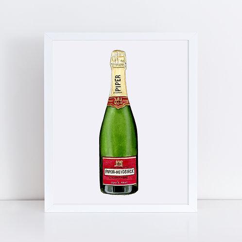 Piper-Heidsieck Champagne Bottle