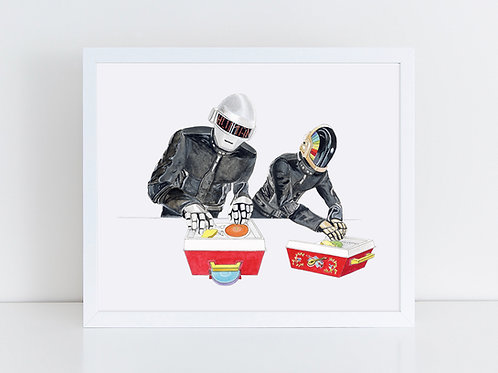 Daft Punk DJs on Fisher Price Record Players
