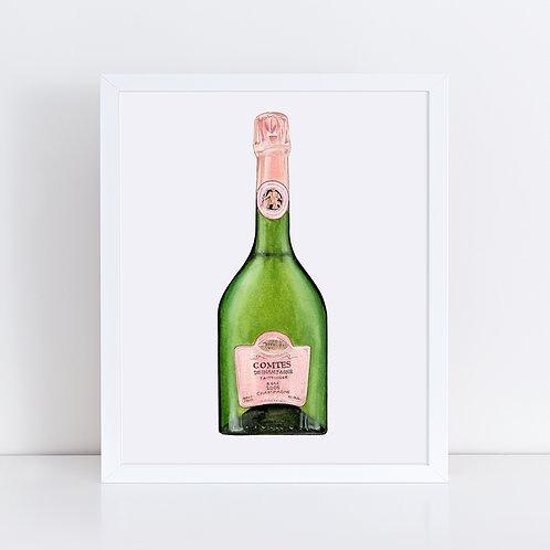 Taittinger Comtes De Champagne Rosé Bottle