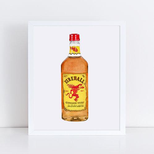 Fireball Whisky *ORIGINAL PAINTING*
