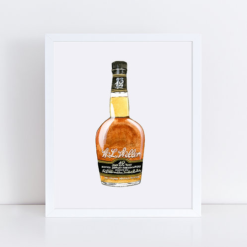 W.L. Weller Bourbon Bottle