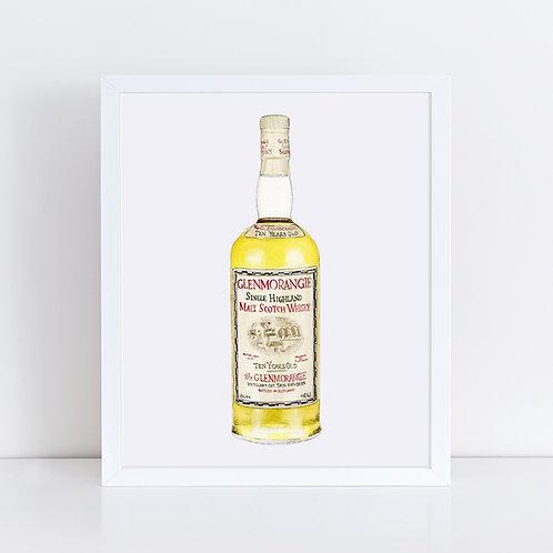 Glenmorangie 10 Year Scotch Whisky Bottle