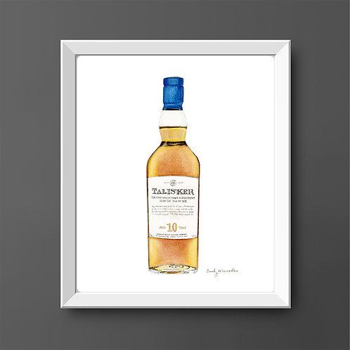 Talisker 10 Year Scotch Whisky Bottle *ORIGINAL PAINTING*