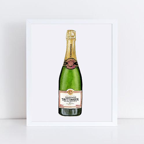 Taittinger Champagne Bottle