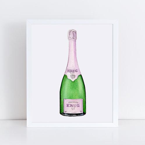 Krug Rosé Champagne Bottle