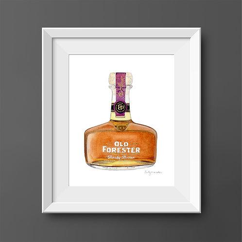 Old Forester Bourbon Bottle *ORIGINAL PAINTING*