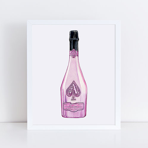 Armand Rosé Champagne Bottle