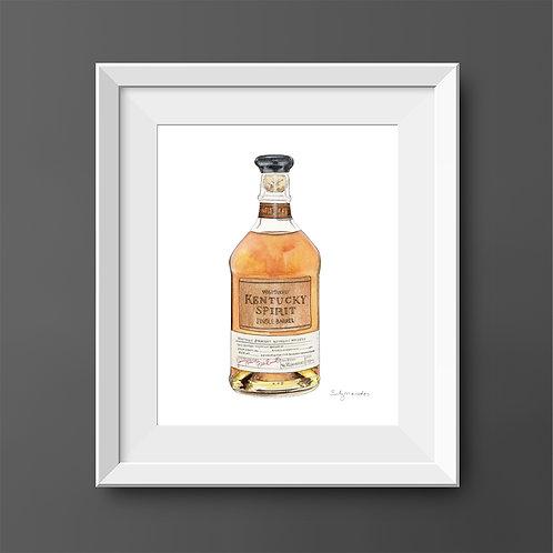 Wild Turkey Kentucky Spirit Bourbon Bottle *ORIGINAL PAINTING*