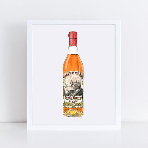 20 Year Pappy Van Winkle Bourbon Bottle