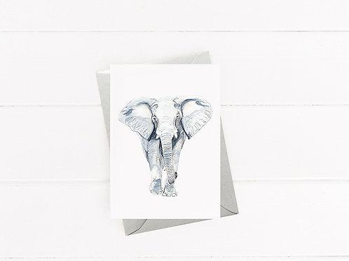 Elephant - Greeting Card