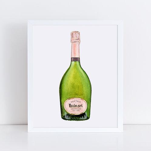 Ruinart Rosé Champagne Bottle