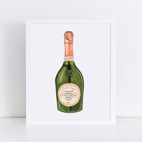 Laurent-Perrier Rosé Champagne Bottle