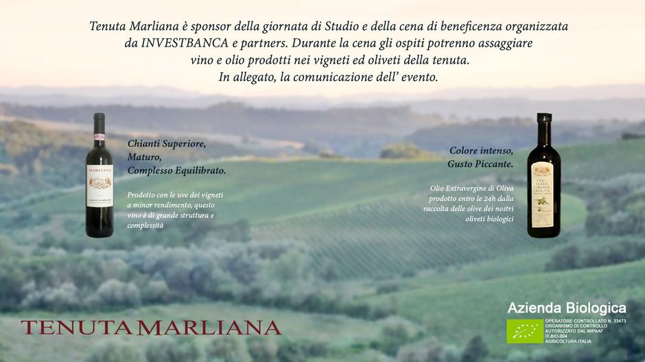 Tenuta Marliana sponsor della giornata di Studio organizzata da INVEST BANCA