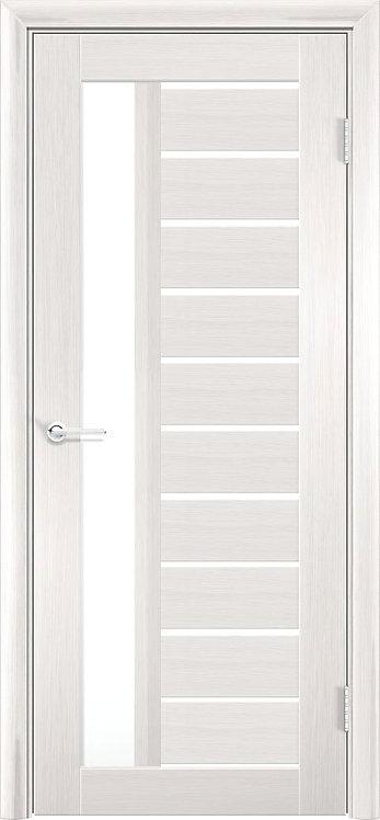 """Межкомнатная дверь S-13 (стекло """"Сатин"""") (Ясень, лист. крем., дуб дым., венге)"""