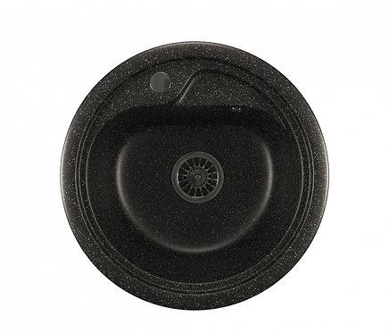 Мойка ML-GM10 круглая чёрная 308