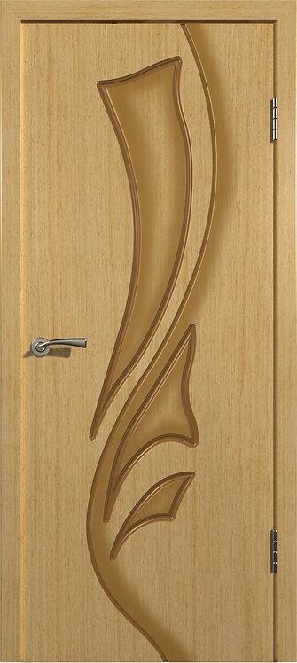 Межкомнатная дверь Лилия шпон (Светлый дуб)