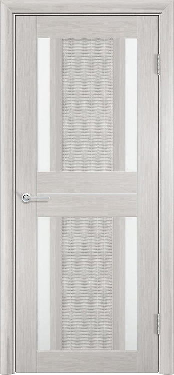 """Межкомнатная дверь S-26 (стекло """"Сатин"""") (Ясень, лист. крем., дуб дым., венге)"""