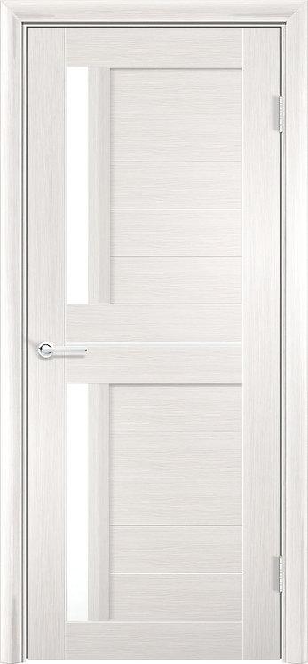 """Межкомнатная дверь S-4 (стекло """"Сатин"""") (Ясень, лист. крем., дуб дым., венге)"""