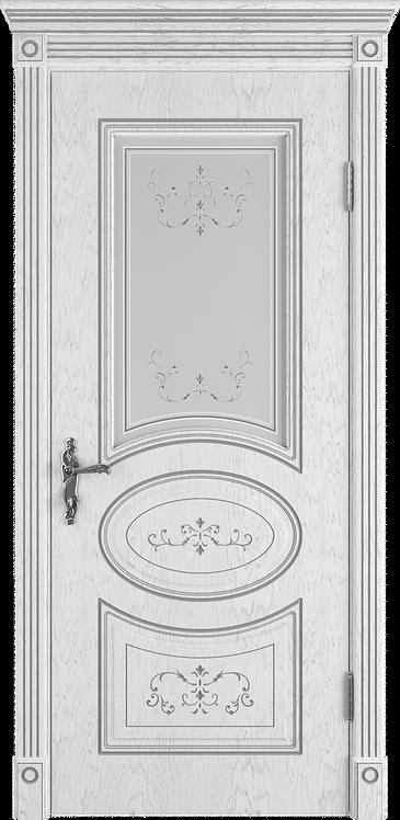 Межкомнатная дверь Амалия (Остеклённое полотно)  (Ivory PC, Bianco PG, Honey PB)