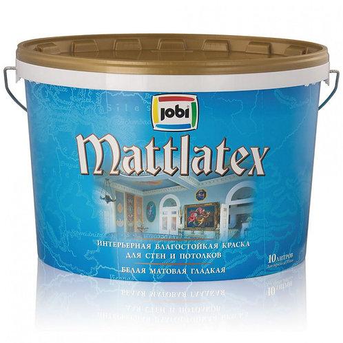 Краска JOBI MATTLATEX O4 влагостойкая 10л.