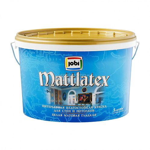 Краска JOBI MATTLATEX O4 влагостойкая 5л.