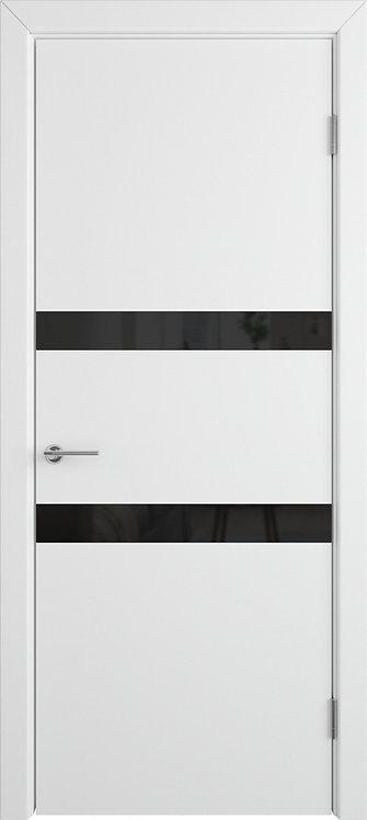 Межкомнатная дверь Ньюта (Polar) Black gloss
