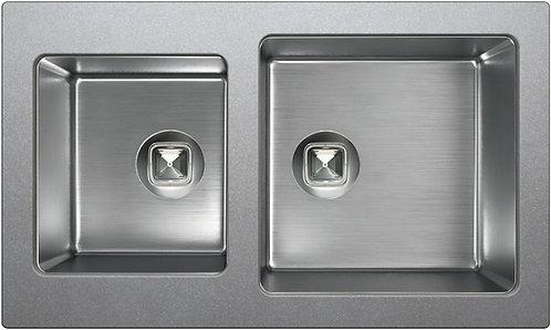 Мойка Tolero Twist TTS-840 №001 серый металлик