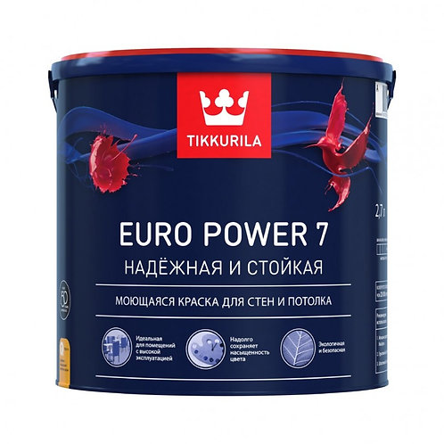 Краска Тиккурила  EURO POWER 7А